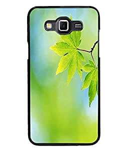 PrintDhaba Leaves D-1163 Back Case Cover for SAMSUNG GALAXY GRAND 3 (Multi-Coloured)