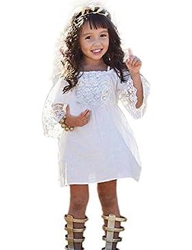 vestido nina Switchali Chica Floral Princesa Vestido Bebé Niñas vestido de Fiesta Boda Pompa encaje Vestidos moda...