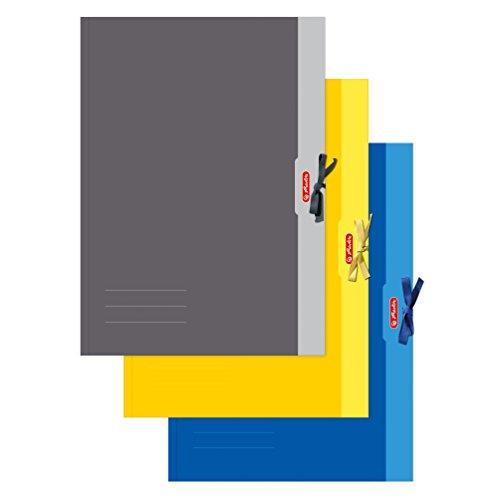 Herlitz 448209 Sammelmappe A2 Chromoduplex, 500 g/qm, 1ne Mappe erhältlich in den Farben: gelb, grau, blau -