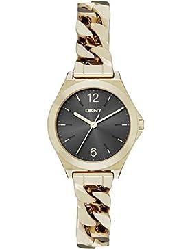 DKNY Damen-Armbanduhr Analog Quarz Edelstahl NY2425