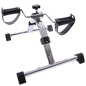 66Fit, Attrezzo allenamento gambe e braccia pieghevole Pedal-trainer, Nero (schwarz), Taglia unica