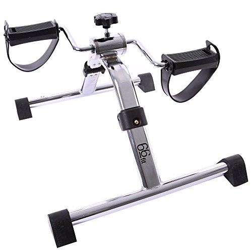 66fit Arm- u. Bein-Pedaltrainer – faltbarer mini Heimtrainer, Physiotherapie