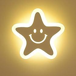 XG Lámpara de Pared LED de acrílico 23w Lámpara de Pared Decorativa de Cama Infantil Creativa