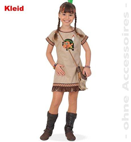 Indianerin LANI 104 Kleid Indianer-Mädchen Fasching Kinder-Kostüm 1tlg. mit Aufdruck