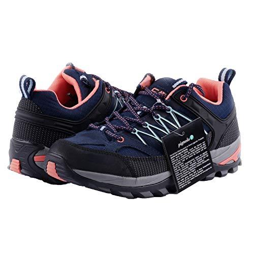 CMP Wanderschuhe Damen Outdoor Schuhe Trekkingsschuhe wasserdicht leicht und bequem mit Dicker Sohle in vielen Farben Ragel, Größe:40, Farbe:Giada-Peach-Blue