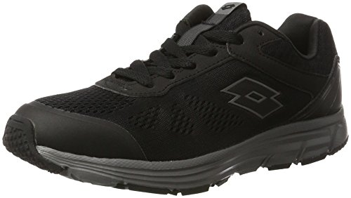 Lotto Sport Lightrun, Chaussures Multisport Outdoor Homme Noir (Blk/tit Grv)