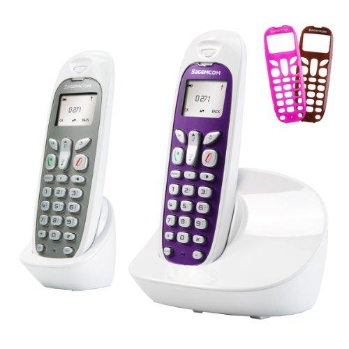 Sagemcom D271 DUO - Teléfono inalámbrico no RDSI (con 2 terminales), color blanco (importado)