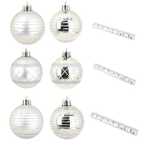 Set de 8 Boules de décoration Noël 6cm argent