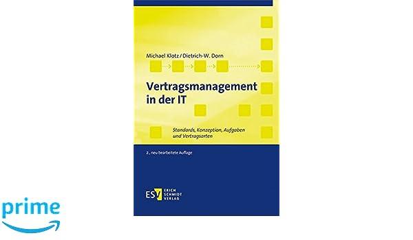 Vertragsmanagement In Der It Standards Konzeption Aufgaben Und