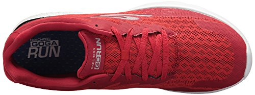Skechers Go Run 400-Disperse, Chaussures Multisport Outdoor Homme Rouge (Red)