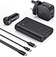RAVPower 6 in 1 Prime Power Bank Combo - Black