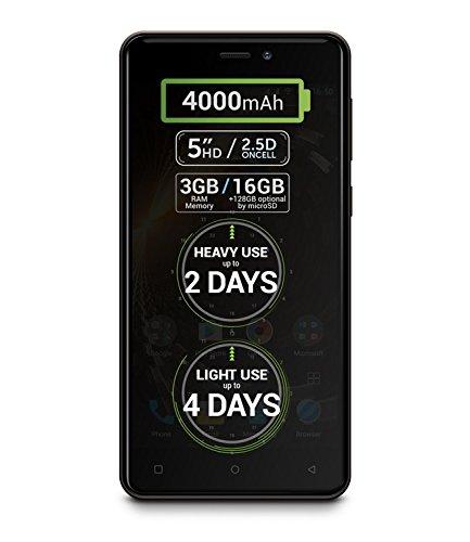 "Allview P9 Energy mini Gold Mocha - LTE Dual SIM / 5\"" IPS HD / 4,000 mAh SDI Akku / Android 6.0 / 3GB RAM / 16GB Flash / 13 Mpx Hauptkamera"