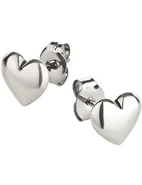 Ohrstecker Herz Ohrring aus Sterling Silber für Kinder Damen und Herren