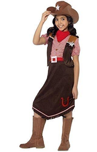Fancy Me - Mädchen Luxus Cowgirl Sheriff Rodeo Jessie Toy Story Kostüm Verkleidung - Braun, 7-9 Jahre