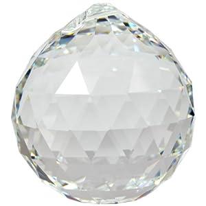 Kristallset: Kristall Kugel 40mm von Swarovski Kristalle mit Rieser® Aufhängeset Feng Shui Kristallglas Set
