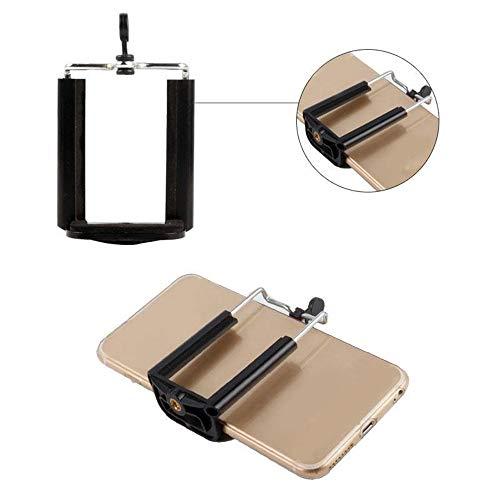 Fulltime E-Gadget Edelstahl Selfie Stick Stand Adapter Telefon Stativhalterung Halter Clip Clamp Bracket Einbeinstativ (Schwarz)