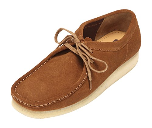 clarks-originals-wallabee-herren-derby-schnurhalbschuhe-braun-cola-41-eu-7-herren-uk