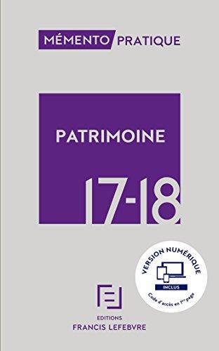 MEMENTO PATRIMOINE 2017 2018