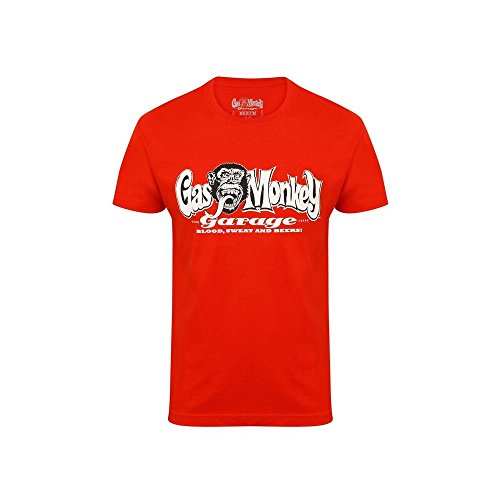 Gas Monkey Garage Herren T-Shirt OG Logo verschiedene Farben Rot