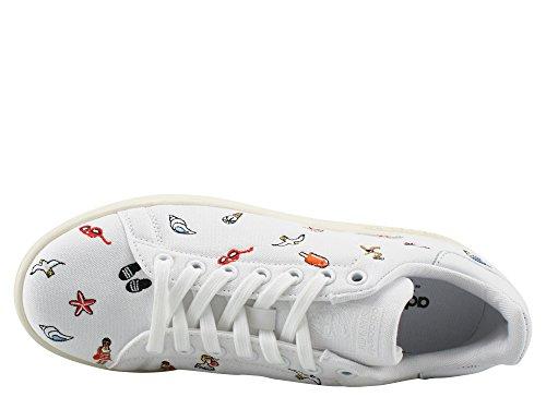 adidas Stan Smith, Scarpe da Ginnastica Basse Donna Bianco (Footwear White/footwear White/off White)