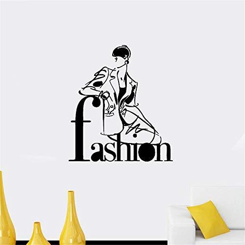 Mädchen Kostüm Salon Grüner - wandaufkleber 3d Mode-Stil Trends Kostüm Salon Friseursalon Beauty-Aufkleber für Mädchen Schlafzimmer