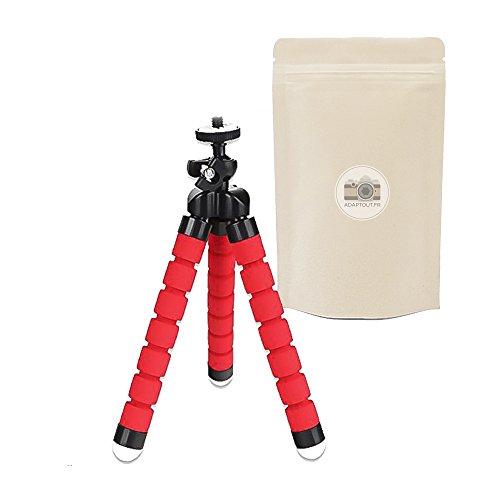 R Mini Trépied de Table Flexible Léger Petite Taille Universel pour Appareil Photo Compact Compatible Toutes Marques Canon Nikon Sony Fuji Pentax Panasonic. – Rouge - ADAPTOUT Marque FRANÇAISE