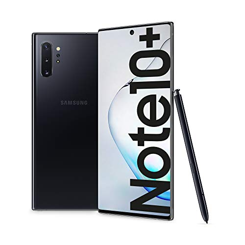 Samsung Galaxy Note10+ Smartphone, Display 6.8', 256 GB Espandibili fino a 1TB, RAM 12 GB, Batteria 4300 mAh, 4G, Dual SIM, Android 9 Pie, Aura Black [Versione Italiana] 2019