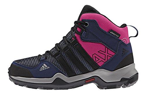 adidas Unisex-Kinder Ax2 Mid Cp Trekking-& Wanderstiefel, Azul / Negro / Rosa (Azupri / Negbas / Eqtros), 30 EU