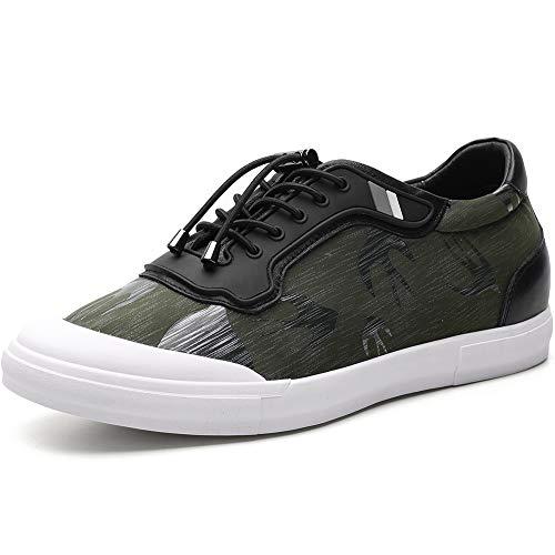 CHAMARIPA Scarpe da Basket con Rialzo Uomo Pelle Sneaker Fino a 6 cm H81C80D052D