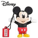 Tribe Disney Mickey Mouse - Memoria USB 2.0 de 8 GB Pendrive Flash Drive de Goma con Llavero