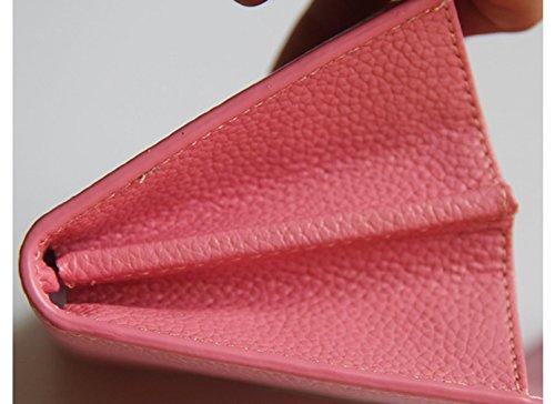 Keshi Leder neuer Stil geldbörse damen lang Black Orange