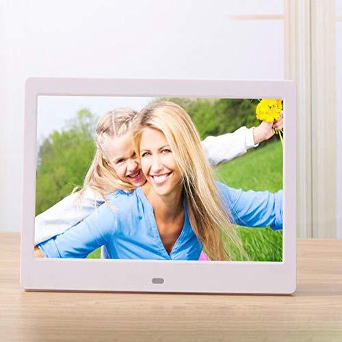 CITW 10-Zoll-Widescreen HD LED Elektronische Fotoalbum LCD Digitale Bilderrahmen Wandbehang Werbemaschine Business-Geschenke,White - Widescreen-hd-lcd