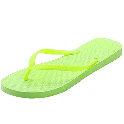 Yiiquan Femmes Eté Plage Tongs Bohemian Sandales Plateforme Flip Flops Vert