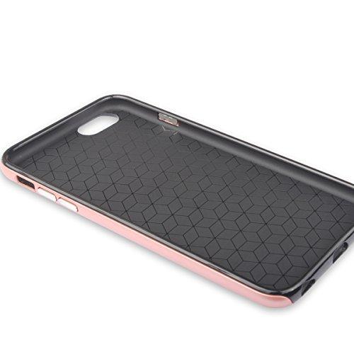 iPhone6/6S Hülle mit Ring Ständer,EVERGREENBUYING Abnehmbare Hybrid Schein IPHONE 6 / 6S Tasche Schutzhülle Plastik Material Case Etui für iPhone 6 / 6s 4.7 inch Rose Gold Grau