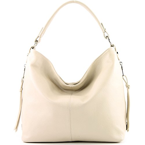Borsa In Pelle Shopper Donna T160 Crema