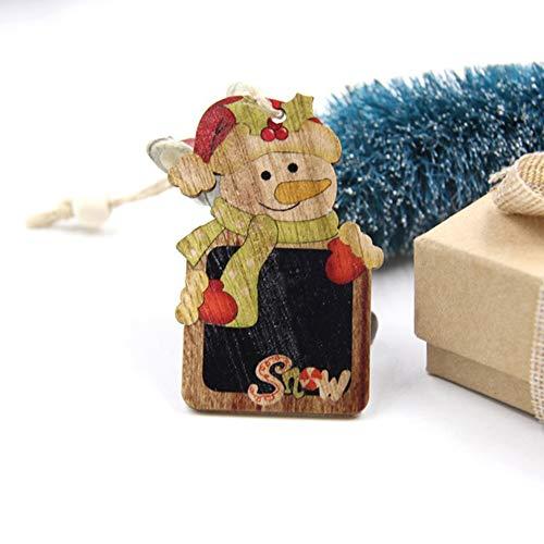 Hanbaili Weihnachtsbaum Anhänger Weihnachten Puppe Dekoration niedliche hölzerne Wandbehänge Home Decor