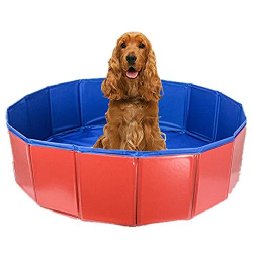ad Tragbar Faltbar Hunde Katzen Baden Wanne Badewanne Waschen Wanne Wasser Teich Schwimmbad & Kinder Pools Zum Kinder Im Das Garten,Red,M ()