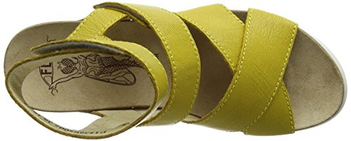 FLY London Wege669fly, Sandales femme Jaune (Lemon 005)