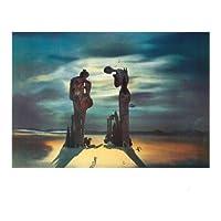 Lámina 'Reminiscence Archeoloqique de l'Angelus', de Salvador Dalí, Tamaño: 50 x 40 cm