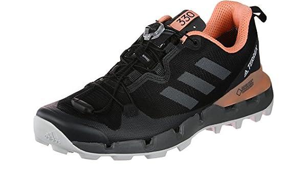 adidas Damen Terrex Fast GTX Surround W Trekking-& Wanderstiefel, Schwarz(Cblack/Grefiv/Chacor), 43 1/3 EU