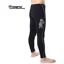 PAWHITS Combinaison Pantalon en néoprène 3mm Pantalon Thermique de plongée avec Taille Haute pour Adulte Femme Homme (S)