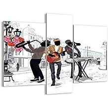 Cuadro sobre vidrio - Cuadro de cristal - 3 piezas - Ancho: 95cm, Altura: 80cm - Foto número 2933 - listo para colgar - Pinturas en vidrio - impresiones sobre vidrio - Cuadro en vidrio - GCB95x80-2933