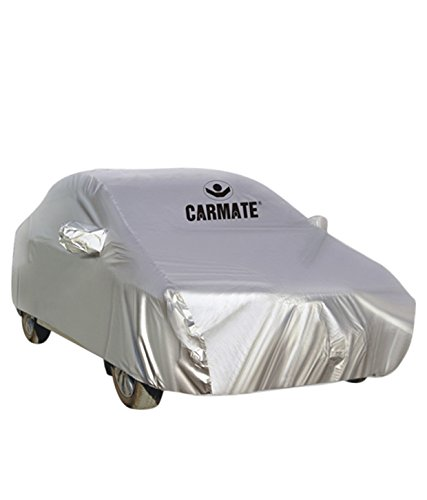 Autosun Carmate Parx Heavy Material Car Cover Chevrolet Beat (Silver)