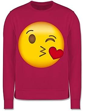 Anlässe Kind - Emoji Kuss-Mund - Kinder Pullover