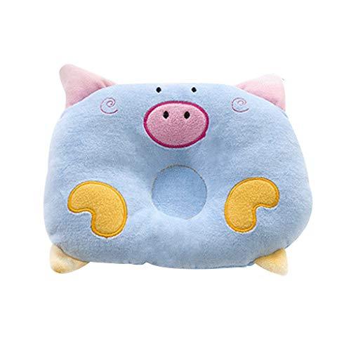Junlinto Velvet Pig Baby Styling Pillow Baby Coussin Locator Matelas De Couchage - Bleu