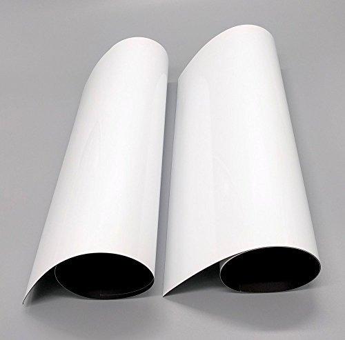 kiboo 2er Pack 27,9x 43,2cm Magnetische Trocken Abwischbare Kühlschrank White Board Blatt-Bleibt weiß-Whiteboard Nachricht Board für die Küche, locker, Kühlschrank-Zufriedenheitsgarantie