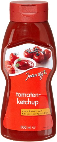 Jeden Tag Tomatenketchup PET, 4er Pack (4 x 500 ml)