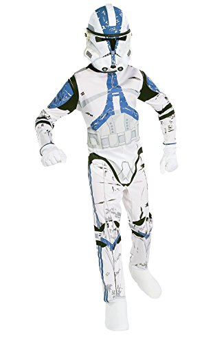 Rubies Deutschland 3 882010 L - Clonetrooper, Mehrfarbig, 8-10 - Kinder Storm Trooper Kostüm