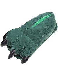 chaussures Chaussons unisex adulte/enfant pantoufles animaux patte vert fonce M(38-44)