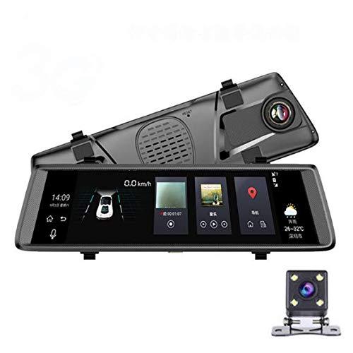 CBTJ Auto DVR Spiegel Stream Media Kamera HD Dual Lens DVR Dash Vorder- und Rückspiegel Kamera Video Recorder IPS Touchscreen FHD Cam Registrar 10 Zoll -
